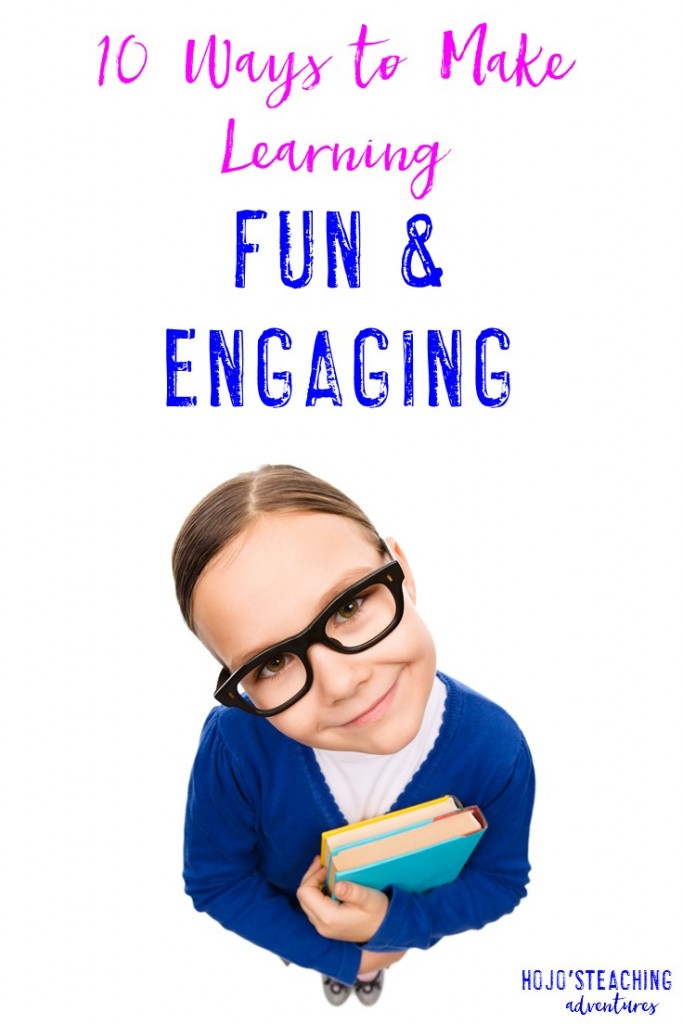 Sometimes we need to change up our instructional routines to increase student engagement. This post from HoJo is sure to be helpful for making that happen, as she shares 10 ways to make learning fun and engaging for our students! I love her ideas, so click through to get the full list of suggestions!