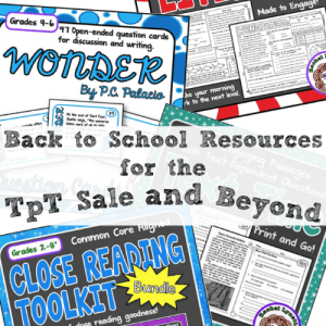 Back to School Resources for the TpT Sale and Beyond!