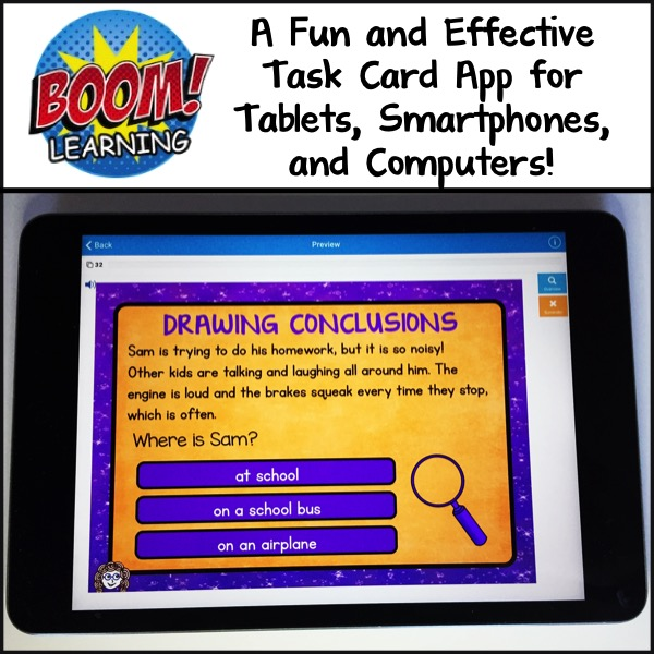 Boom Learning: A Fun and Effective Task Card App for Tablets, Smartphones, and Computers
