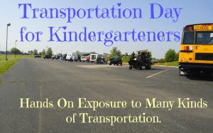 Transportation Day for Kindergarteners