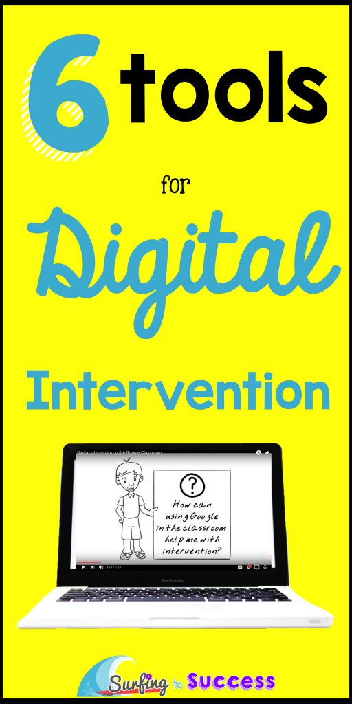 We use technology for many others tasks in our classroom, so why not for intervention? This post details six digital tools you can use to carry out intervention. There are a variety of tools that can be used many different ways.