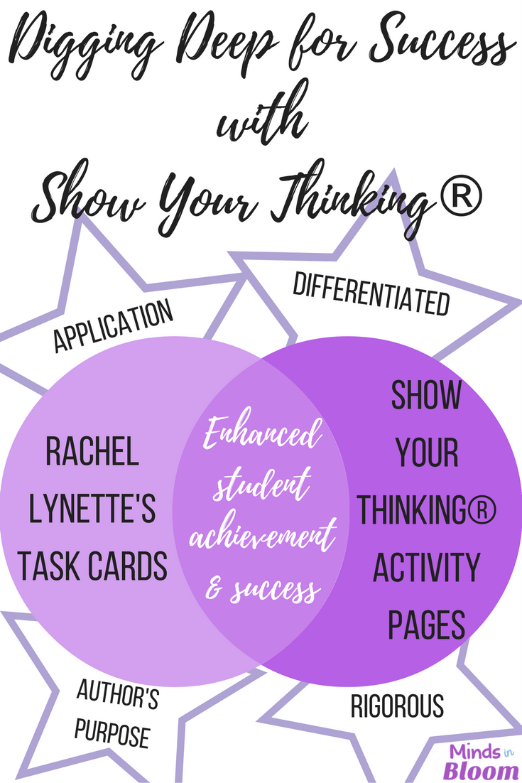 Do you spiral review? Show Your Thinking is a series of resources created based on Rachel Lynette's task cards, with her permission. These resources help you spiral review content so that you don't have to do a big review right before the big standardized test.