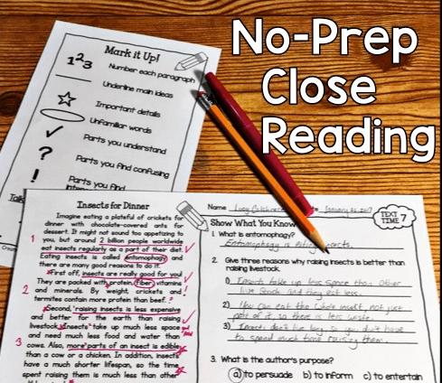 No-Prep Close Reading
