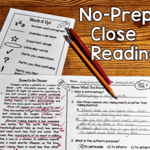 No-Prep Close Reading