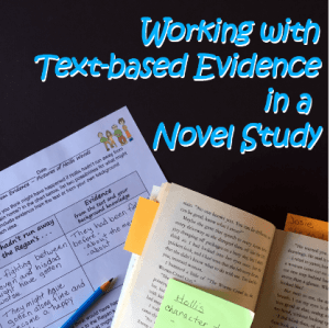 Working with Text-Based Evidence in a Novel Study