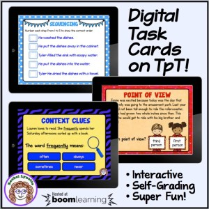 Digital Task Cards from Boom Learning Now on TpT!