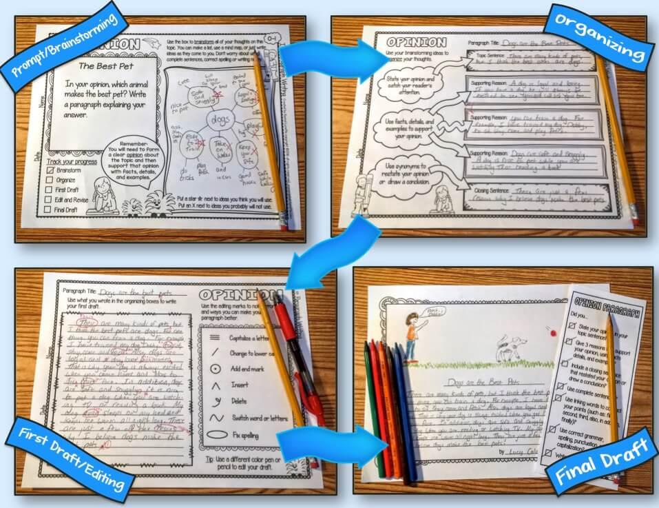 Paragraph writing printables