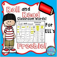 Roll and Read Classroom Words for ELLs Freebie