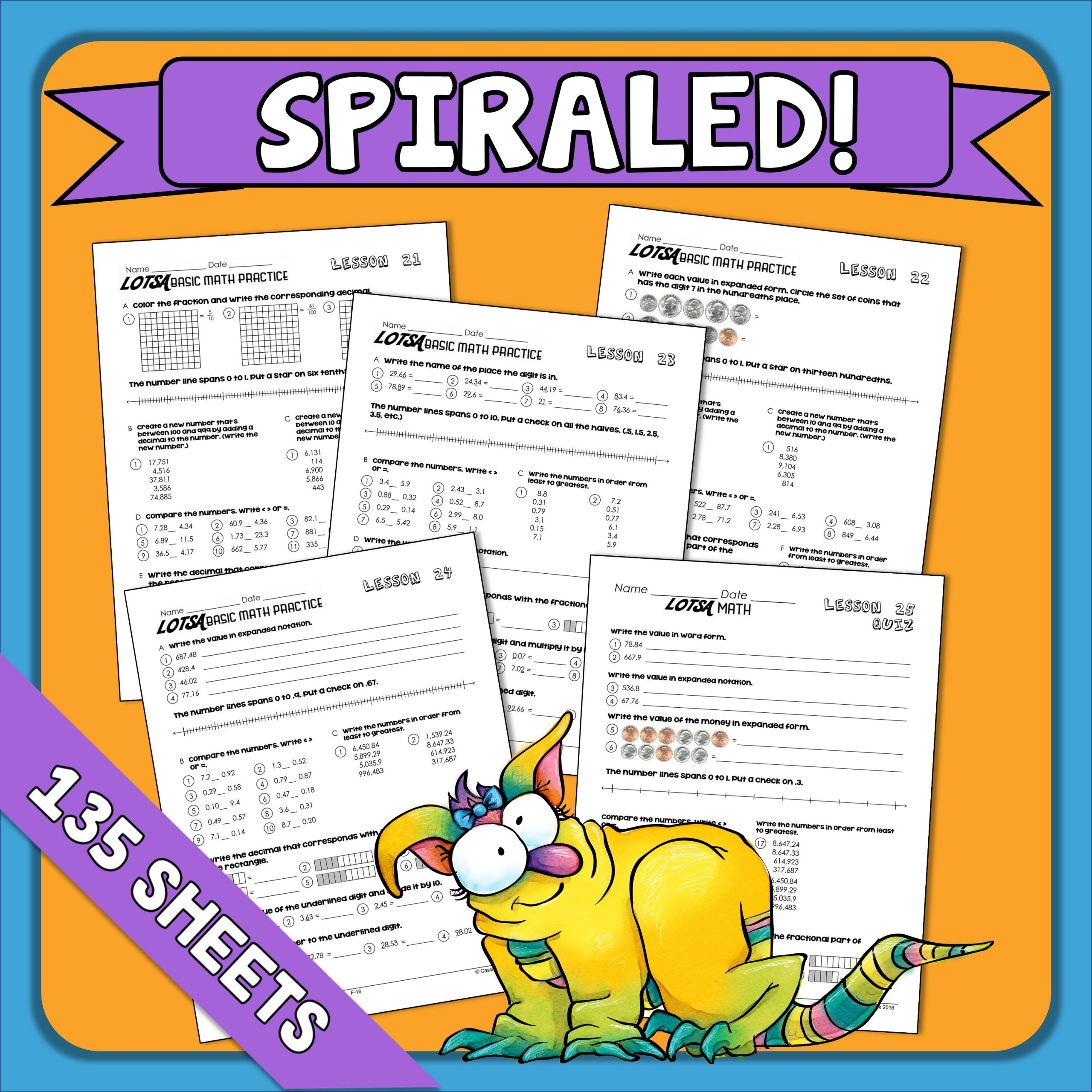 4th Grade Math Daily Spiral Review Great For Distance