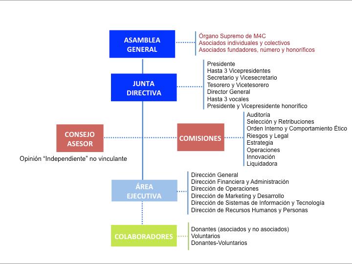 Órganos de gobierno de la asociación Minds4Change