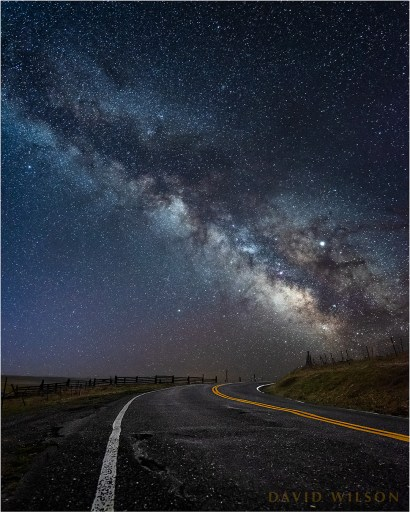 Milky Way over the Kneeland Road, Humboldt County, California