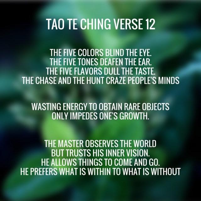 tao te ching verse 12