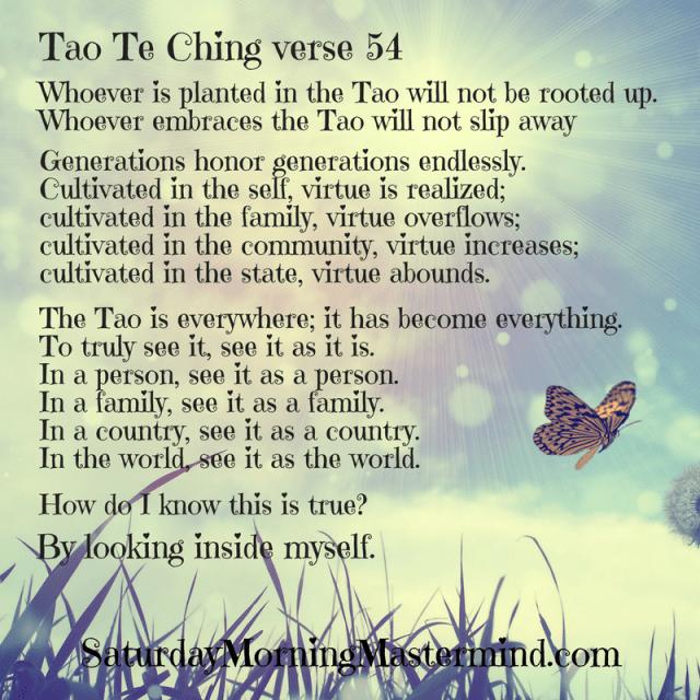 Tao Te Ching verse 54