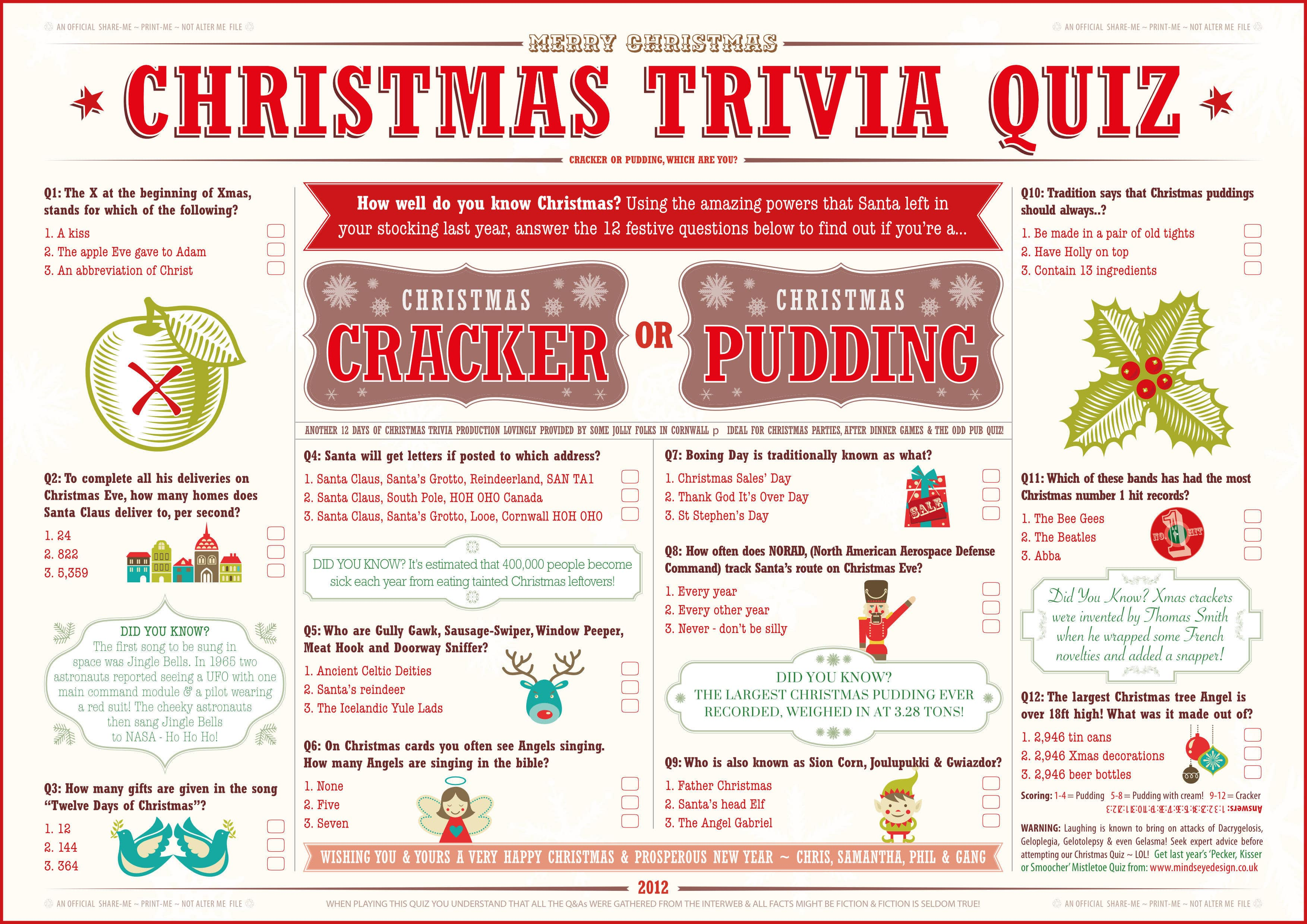 3 Family Friendly Christmas Quiz Downloads