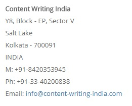 Contentwritingindia contact