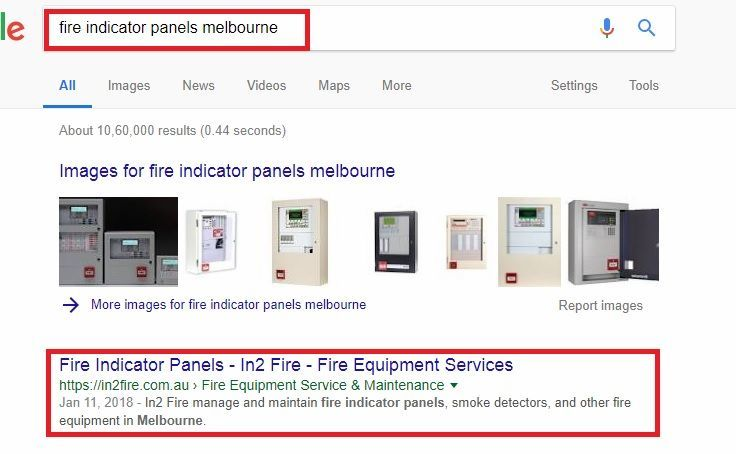 Google-ranking-for-In2fire