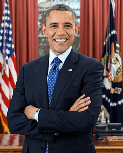 Figure 1—Obama wearing a suit