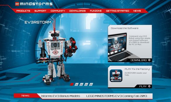 Lego Mindstorms EV3 Website