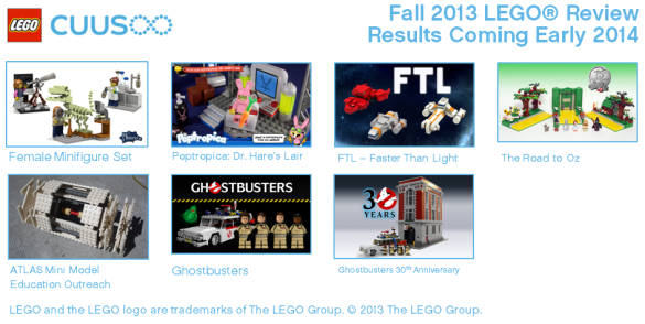 Fall Lego reviewresults comming early 2014