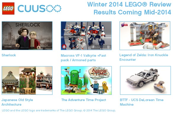 Lego cuusoo winter results mid 2014