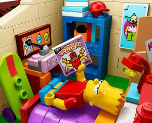 Lego Simpsons set 7106 Bart et Radioactive Man