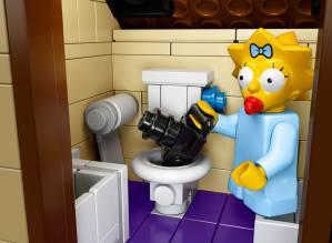 Lego Simpsons set 7106 Maggy appareil photo