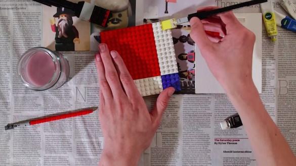 Lego Paint Mondrian