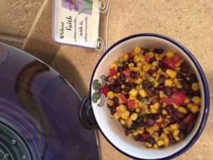 Corn and bean salsa 2