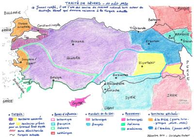 Fin de l'Empire Ottoman : le traité de Sèvres (1920)