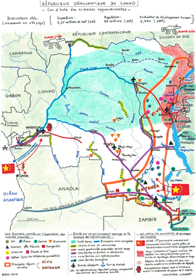 La RDC en carte