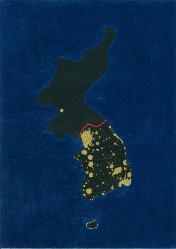 Korea at night