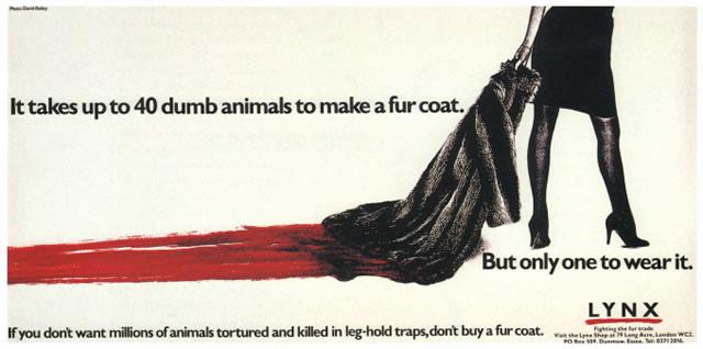 пример социальной рекламы против использования меха