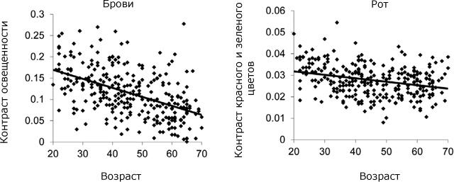Восприятие возраста и контраст черт лица