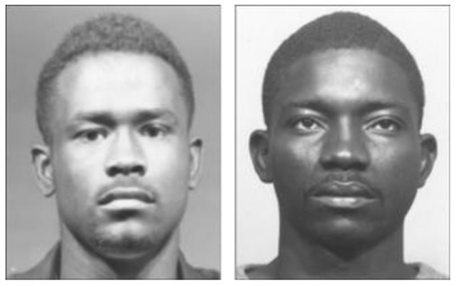 Два преступника, один - со стереотипичным африканским лицом