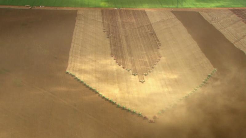 уборка урожая сои в Бразилии