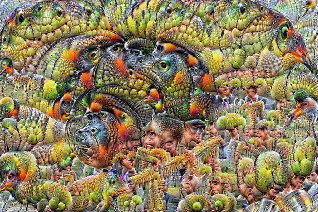 авокадо под Google DeepDream