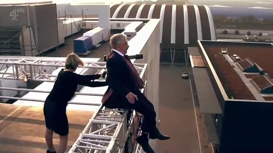 просто толкнуть с крыши