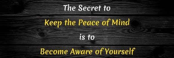Quote: Keep Peace of the Mind