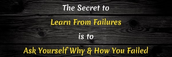 Quote: Learn from failure