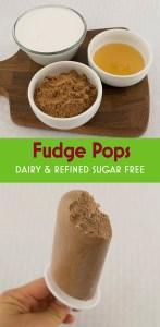 Healthy fudge pops