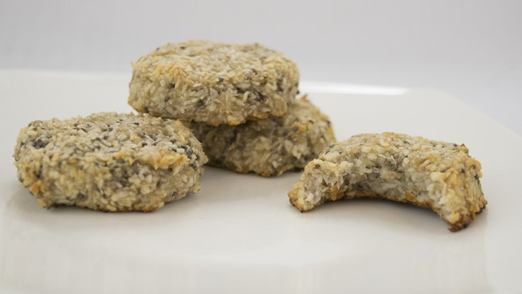 Banana coconut chia cookies