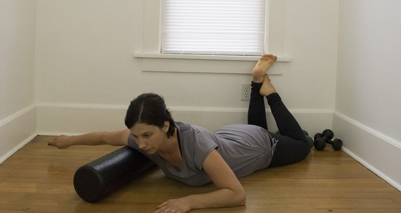 foam roll shoulders