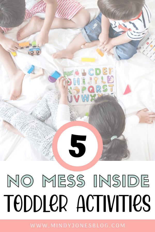 5 no mess toddler activities kids puzzle
