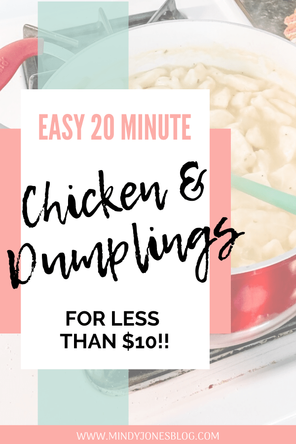 Easy 20 Minute Chicken & Dumplings Less Than $10
