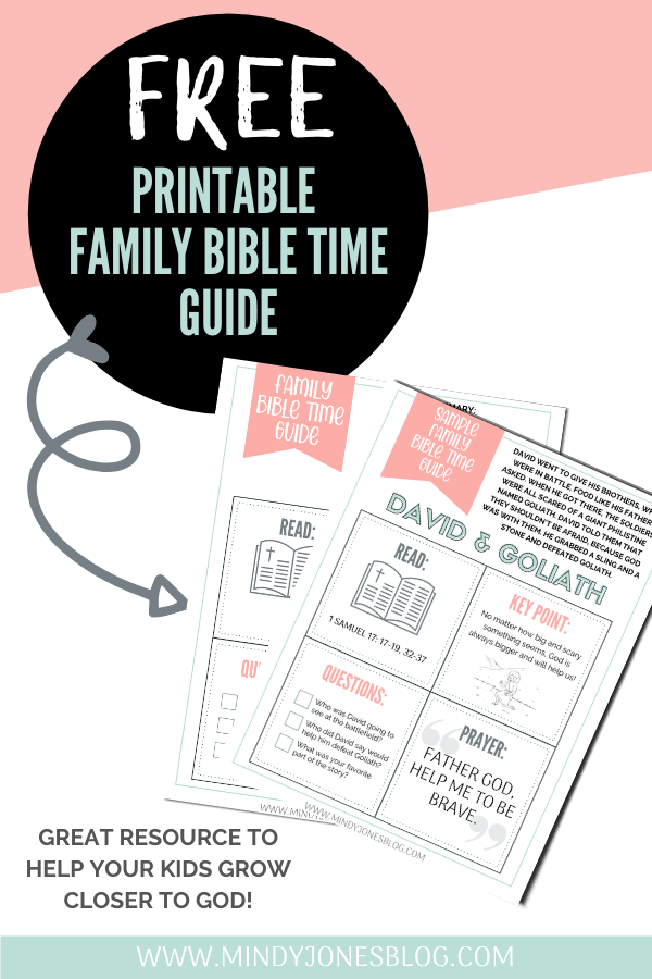 free printable family bible time guide