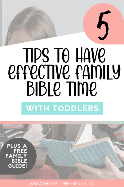 These great tips will help you get Family Bible time in daily, as well as show you some tips to help! Grab the free Family Bible Time Guide too.