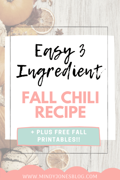 Easy Fall Chili Free Fall Printables