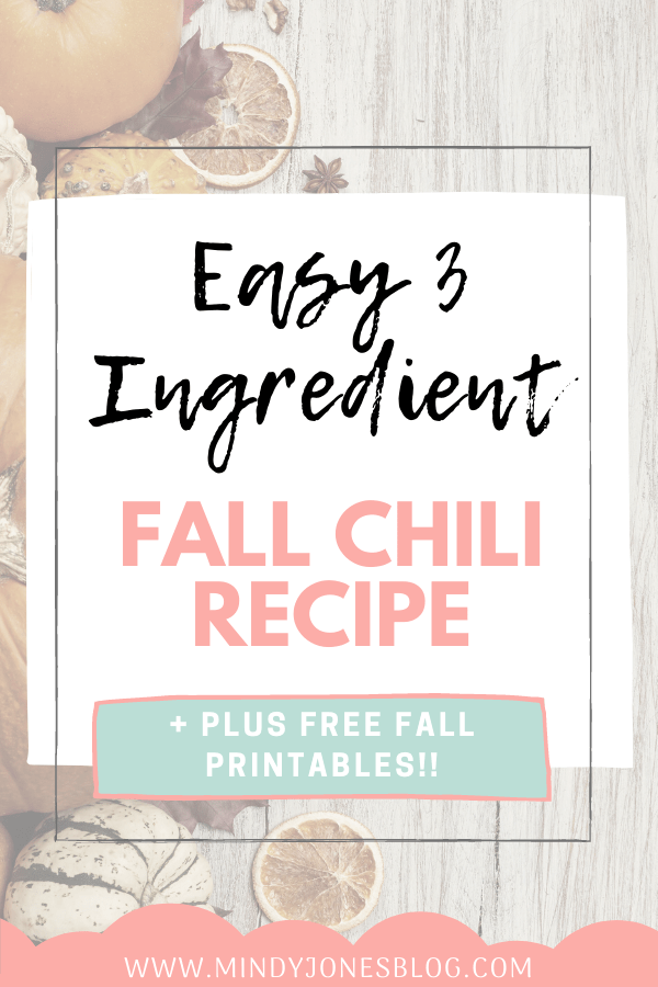easy fall chili recipe