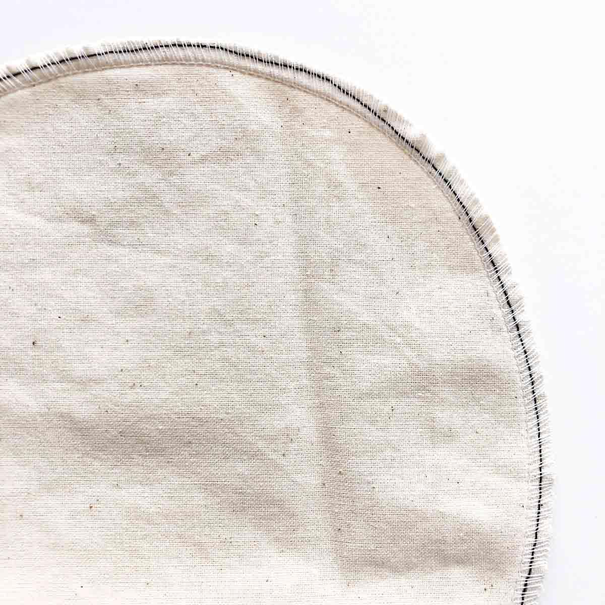 Basting stitch after serging