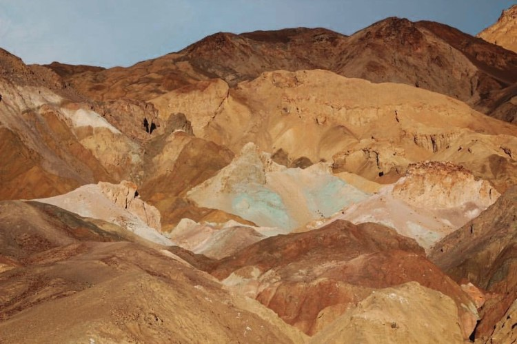 photo of Artists Palette up close in death valley national park